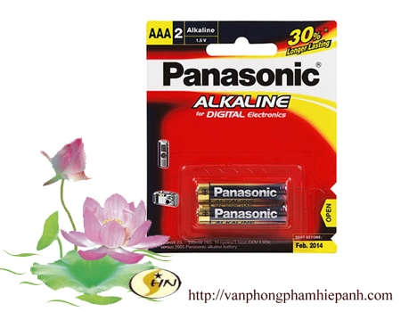 Pin đũa Panasonic Alkaline  AAA vỉ 2 viên