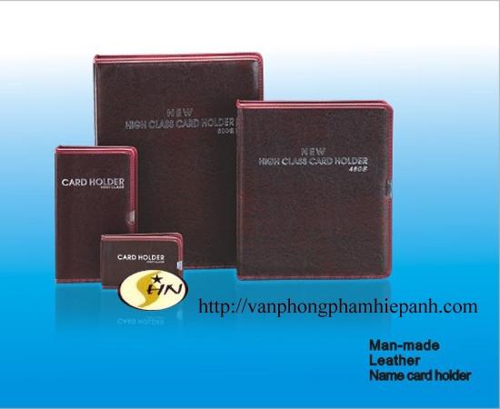 Sổ Card 600 card còng PU da đẹp