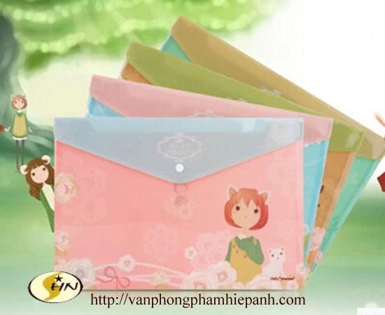 File clear bag Deli A4 96183 (túi đựng bài kiểm tra)
