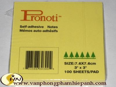"Giấy giao việc Pronoti 3""x3"" (7.6x7.6)cm"