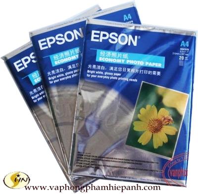 Giấy in ảnh A4 Epson (20 tờ) loại B
